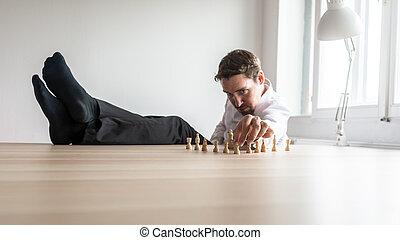 δικός του , γραφείο , επιχείρηση , κάθονται , χαλάρωσα , νέος , γραφείο , γάμπα , αρχηγός