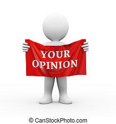 δικό σου , ένδυμα , γνώμη , 3d , άντραs , σημαία