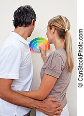 δικό τουs , χρώμα , ζευγάρι , βάφω , αποφασίζω , κρεβατοκάμαρα , ευτυχισμένος