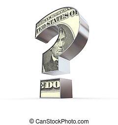 δολάριο , ερωτηματικό