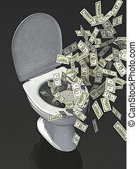 δολάριο , wc , χαρτονόμισμα