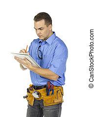 δομή , γράψιμο , εργάτης