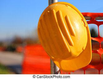 δομή καπέλο , σκληρά , δρόμοs , θέση , εργοστάσιο , κατά την διάρκεια