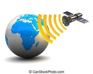 δορυφόρος , εκφώνηση