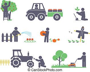 δουλειά , αναμμένος άρθρο ασχολούμαι με κηπουρική