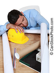 δουλειά , αρχιτέκτονας , κοιμάται