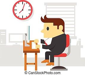 δουλειά , γραφείο , άντραs