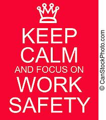 δουλειά , εστία , σήμα , ασφάλεια , ατάραχα , διατηρώ , κόκκινο