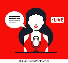 δουλειά , podcast., δίσκοι , radio., κορίτσι