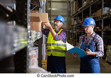 δουλευτής , αποθήκη , stock., αρσενικό , αρίθμηση