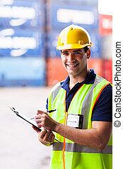 δοχείο , λιμάνι , εταιρεία , εργάτης , νέος , αποστολή ατμοπλοϊκώς αποθήκη
