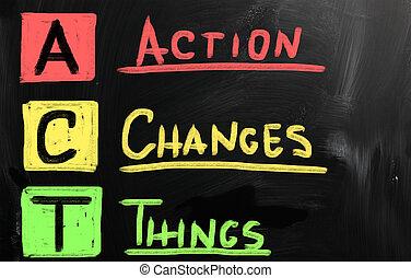 δράση , αδυναμία , αλλαγή