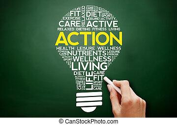 δράση , βολβός , λέξη , σύνεφο