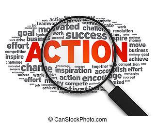 δράση , γυαλί , - , αυξάνω