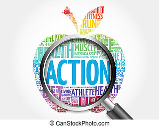 δράση , γυαλί , λέξη , αυξάνω , σύνεφο