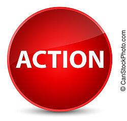 δράση , κομψός , κουμπί , στρογγυλός , κόκκινο
