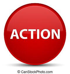 δράση , κουμπί , ειδικό , κόκκινο , στρογγυλός