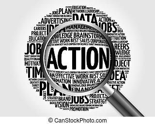 δράση , λέξη , σύνεφο