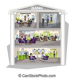 δράση , οικονομικός , ακολουθία ακόλουθοι , φτιάχνω , interior., τράπεζα