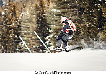 δράση , snowboarder