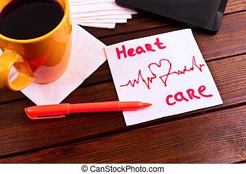 δραμάτιο , καρδιά , προσοχή , χαρτοπετσέτα , καρδιογράφημα