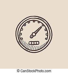 δραμάτιο , ταχύμετρο , icon.