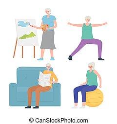δραστηριότητες , κατασκευή , αγώνισμα , απασχόληση , ανώτερος , αρμοδιότητα , ηλικιωμένος ακόλουθοι