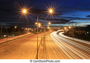 δρόμος , αμυδρός , εθνική οδόs , sky.