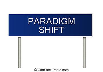 δρόμος αναχωρώ , με , εδάφιο , paradigm, αλλαγή