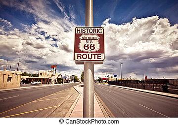 δρόμος , ιστορικός , 66 , σήμα