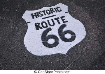 δρόμος 66 , αναχωρώ.