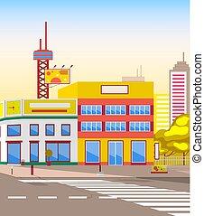 δρόμοs , διαφήμιση , πίνακαs ανακοινώσεων , cityscape , πόλη