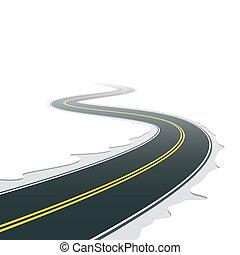 δρόμοs , ελικώδης