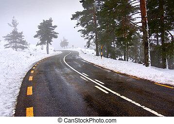 δρόμοs , χιονάτος