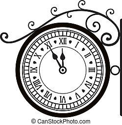 δρόμοs , retro , ρολόι