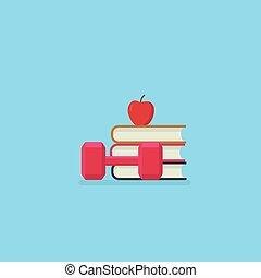 δυναμωτικός lifestyle , illustration., δίαιτα , και , fitness., κομψός , και , υγεία