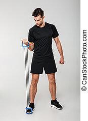 δυνατός , νέος , αθλητισμός , άντραs , φτιάχνω , αθλητισμός , ασκήσεις