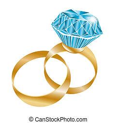 δυο , γαμήλια τελετή δακτυλίδι