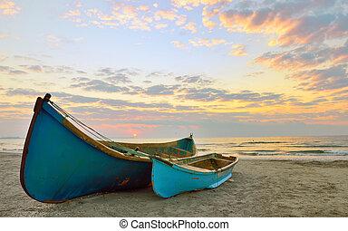 δυο , ψαράs , βάρκα