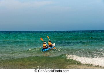 δυο , kayakers