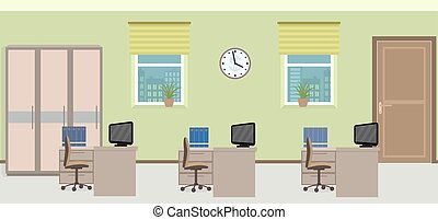 δωμάτιο , ακολουθία αγαθοεργήματα , τρία , απειροστική έκταση , συμπεριλαμβανομένου , εσωτερικός , furniture.