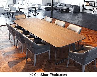 δωμάτιο , γραφείο , γυαλί , μοντέρνος , εξωτερικός τοίχος οικοδομής , απόδοση , συνάντηση , διαφανής , 3d