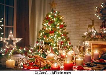 δωμάτιο , διακόσμησα , για , xριστούγεννα