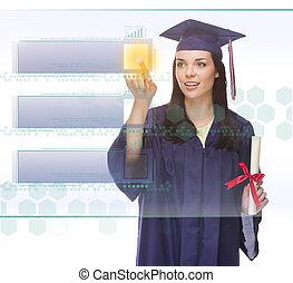 δωμάτιο , κουμπί ανοίγω δρόμο σπρώχνοντας , απόφοιτοs , γυναίκα , κενό , αντίγραφο , κατάλογος ένορκων