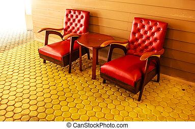 δωμάτιο , κρασί , εσωτερικός , διακόσμηση , retro , θεωρητικός , κόκκινο , έπιπλα