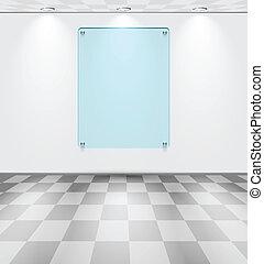 δωμάτιο , με , γυαλί , placeholder