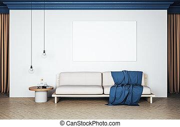 δωμάτιο , σύγχρονος , εσωτερικός , κενό , ζούμε , αφίσα