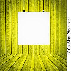 δωμάτιο , τοίχοs , κενό , κίτρινο , retro , απαγχόνιση , πίνακας
