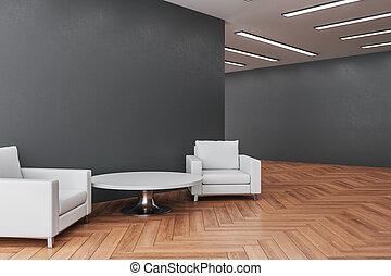 δωμάτιο , minimalistic , εσωτερικός , έδρα , δυο , αναμονή