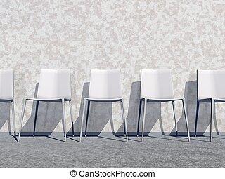 δωμάτιο , render, - , αναμονή , άσπρο , 3d